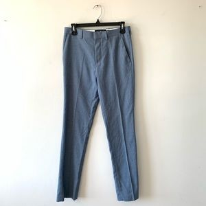 Topman Dress Slacks Pants Skinny Slim Fit Blue 28